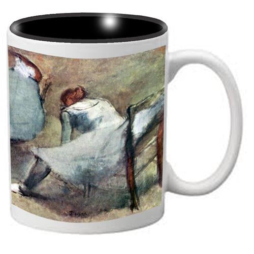 Nutcracker Ballet Mug DGW01 Degas Dancers lace their shoes - Nutcracker Ballet Gifts