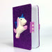 Purple Glitter Unicorn Journal - Nutcracker Ballet Gifts