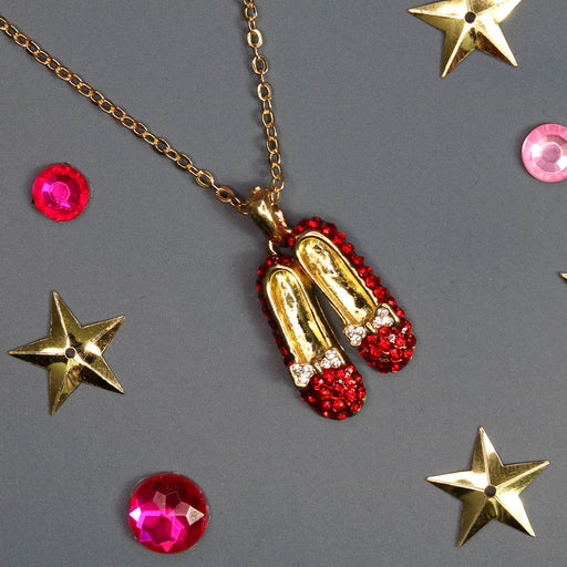 Wizard of Oz Themed Ruby Red Slippers Necklace - Nutcracker Ballet Gifts