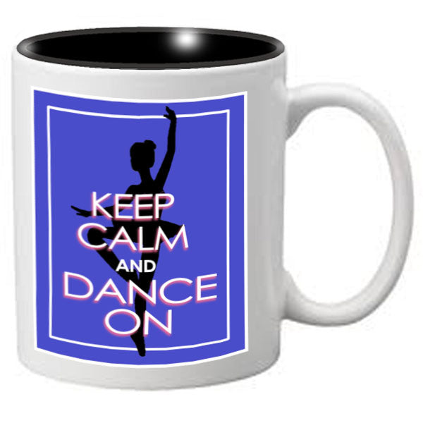 Nutcracker Ballet Mug - KCREC02 - Keep Calm Blue Rectangle - Nutcracker Ballet Gifts