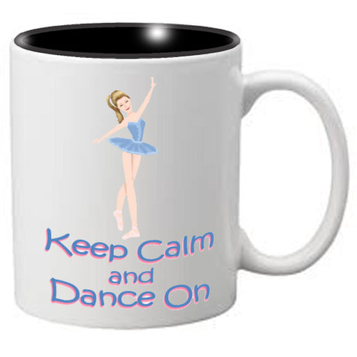 Nutcracker Ballet Mug  MGKC02 Keep Calm Blue Ballerina 02 - Nutcracker Ballet Gifts