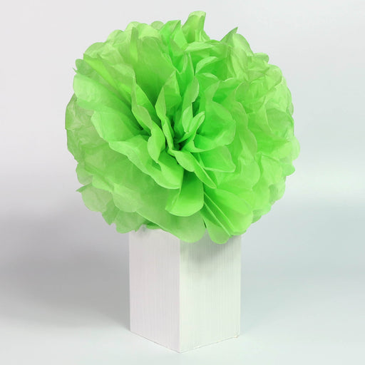 Tissue Pom-Pom 12 Inch Lime 4 pack - Nutcracker Ballet Gifts