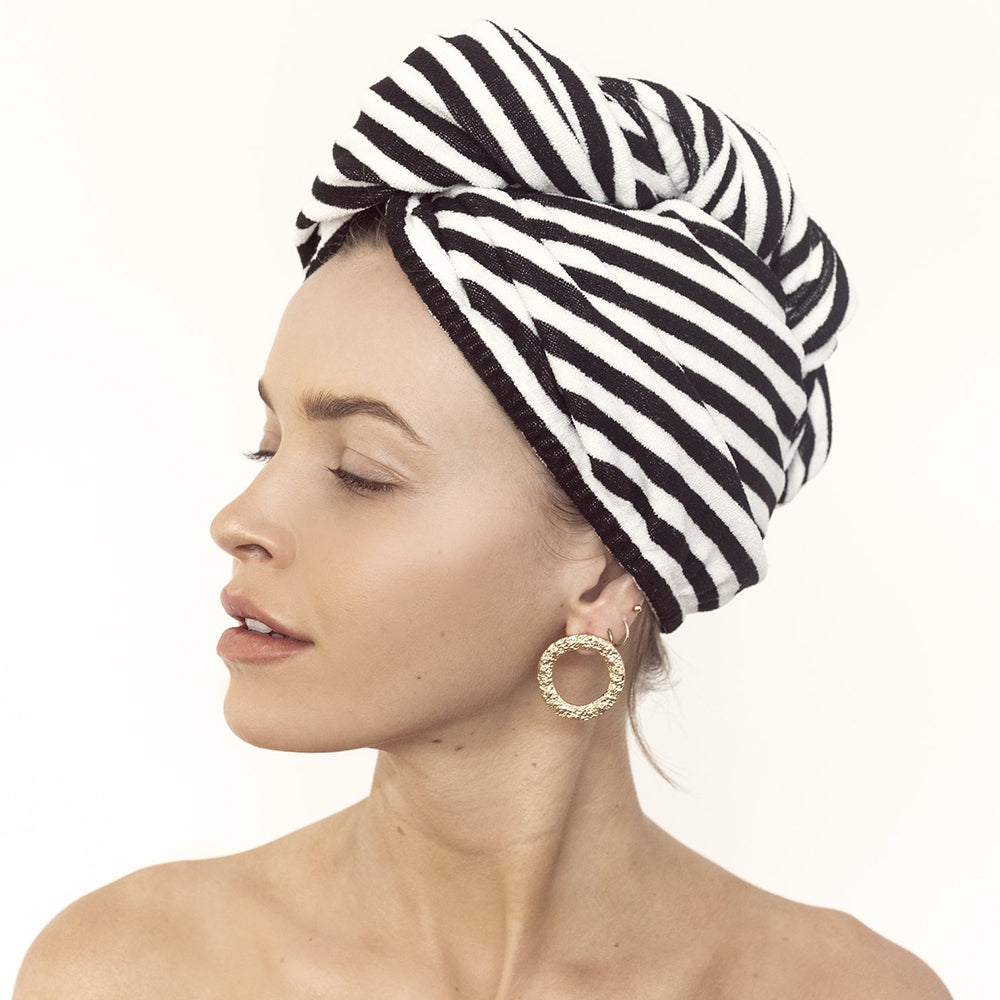 RIVA STRIPE HAIR TOWEL WRAP - DutchHideout