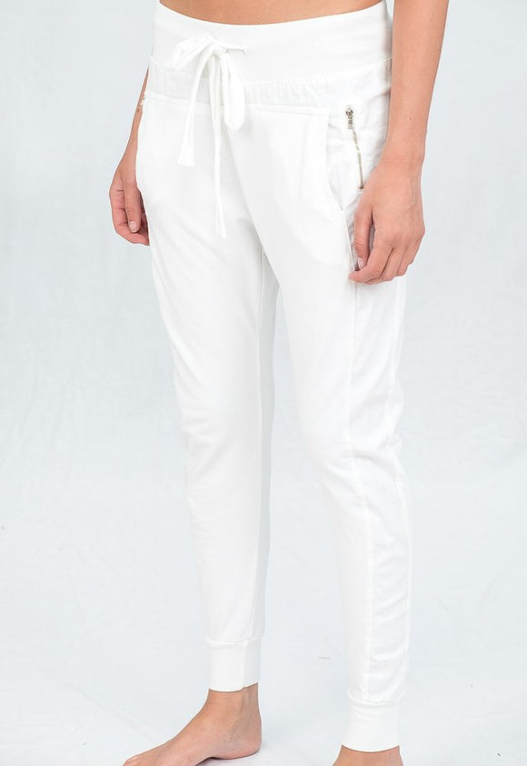 Amelie Jogger Bottoms - White