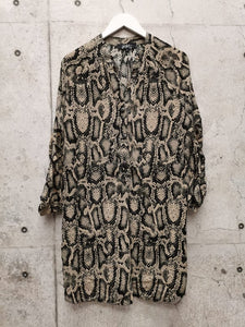 Snakeprint Shirt Dress