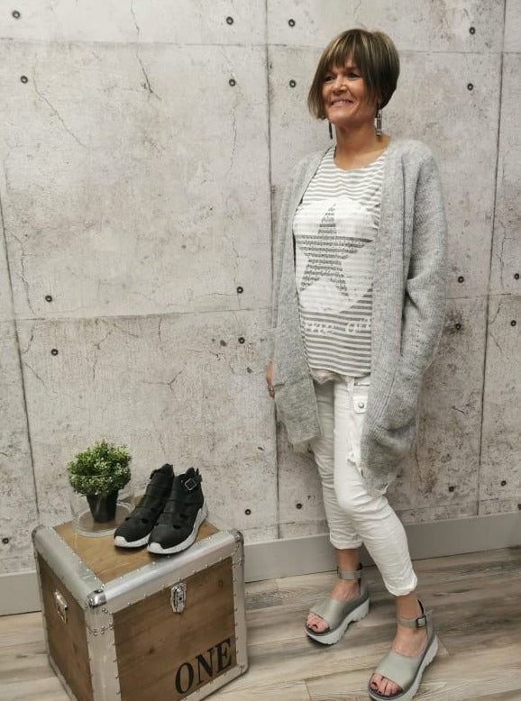 Selected Femme Grey Knit Cardi