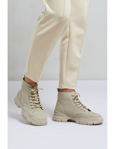 YAYA Canvas Hiker Boots