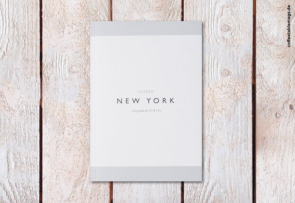 Cereal Magazine – New York Guidebook – Cover