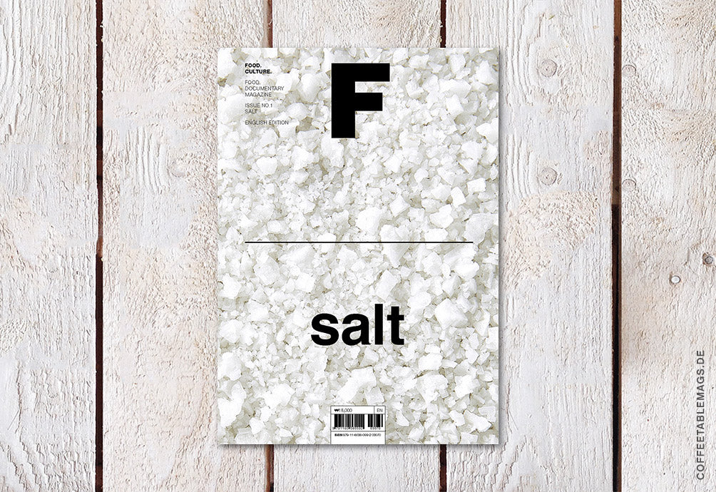 Coffee Table Mags // Independent Magazines // Magazine F – Issue 01: Salt – Cover
