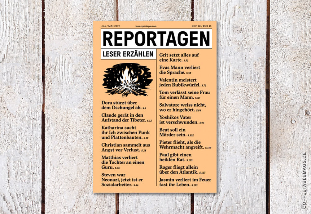 Coffee Table Mags // Independent Magazines // Reportagen – Number 46 – Cover