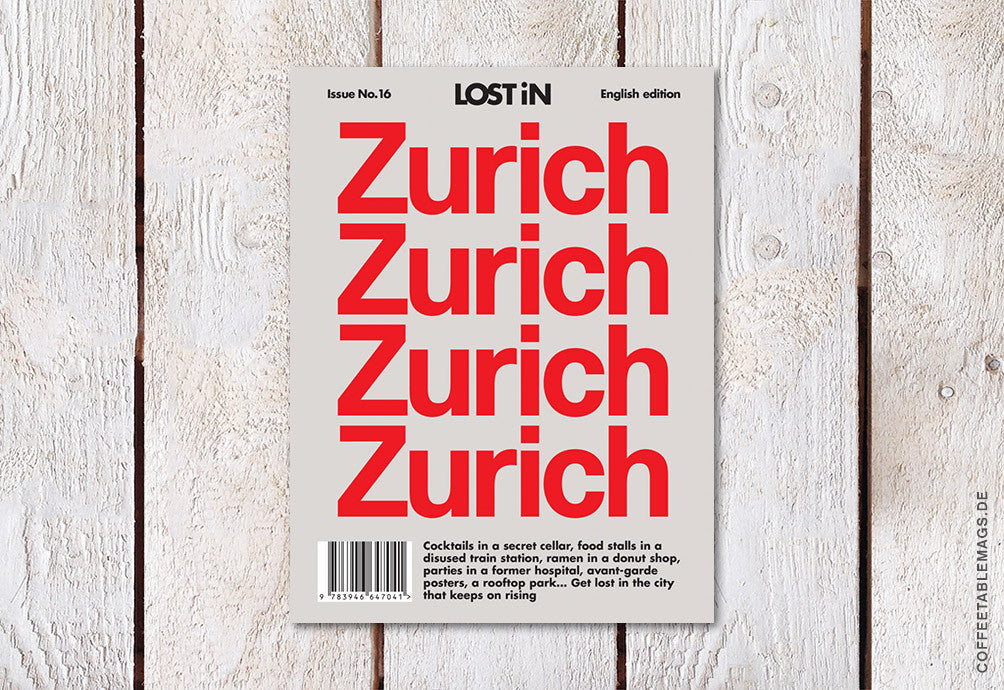 LOST iN City Guide – Issue 16: Zurich – Cover