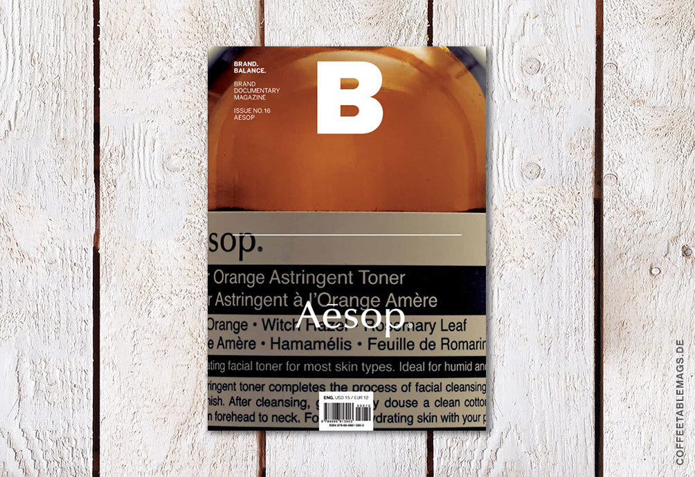 Magazine B – Issue 16 (Aesop) – Cover