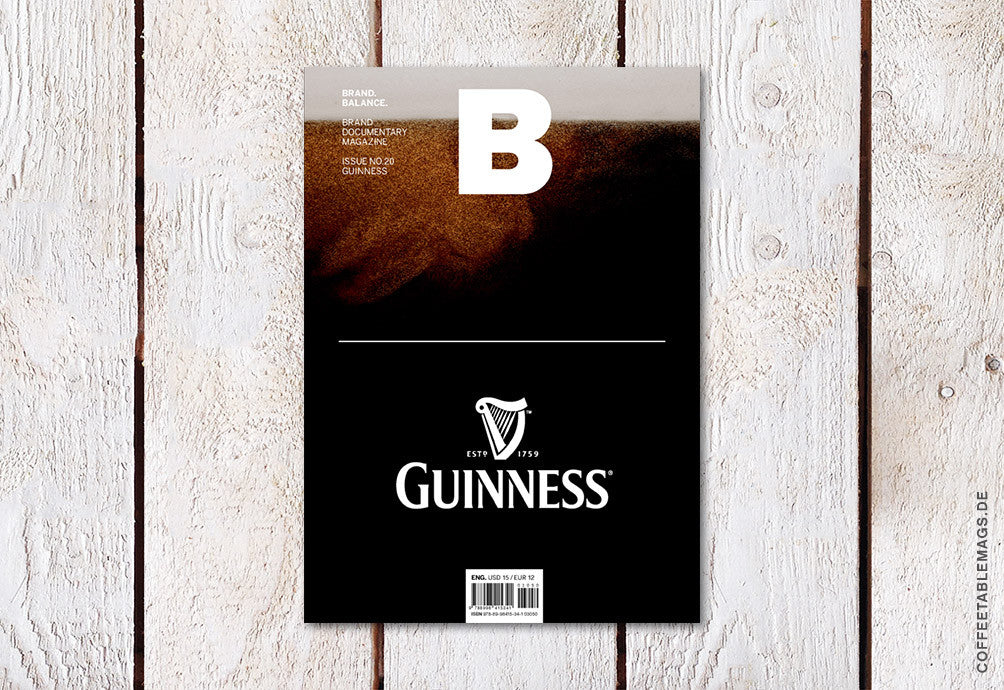 Magazine B – Issue 20 (Guiness) – Cover