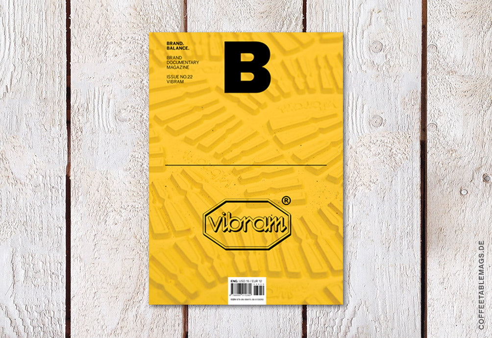 Magazine B – Issue 22: Vibram – Cover
