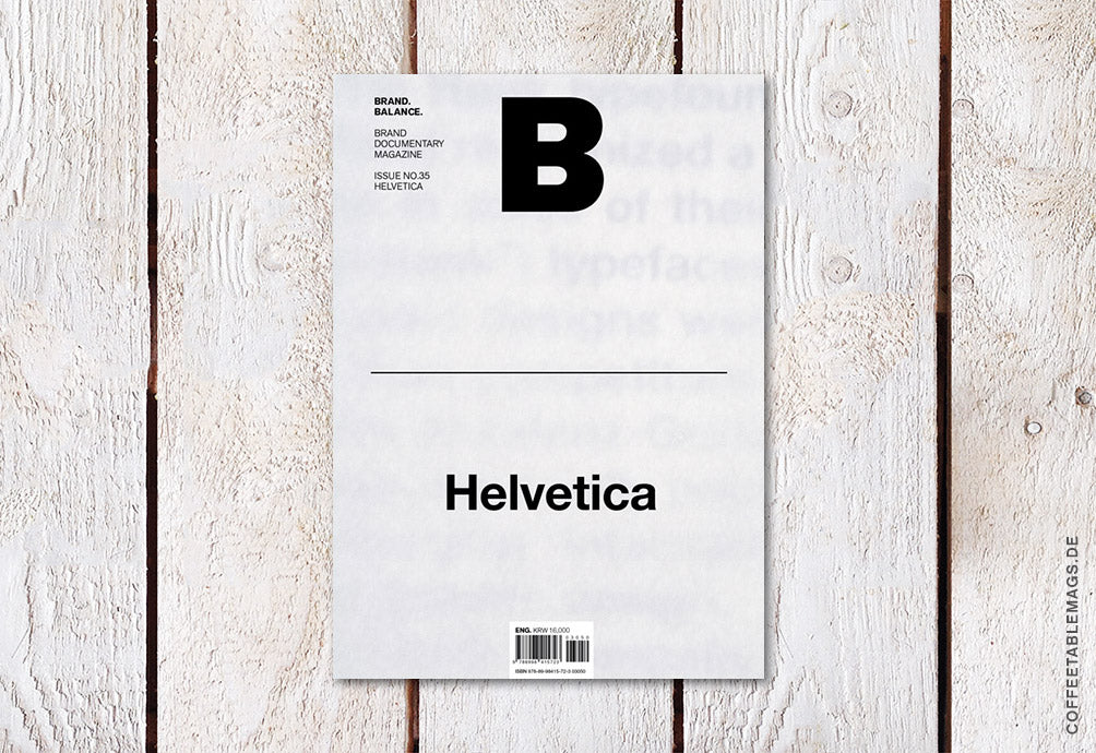 Magazine B – Issue 35 (Helvetica) – Cover