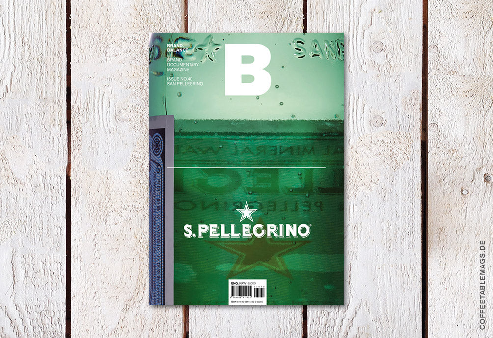 Magazine B – Issue 40: San Pellegrino – Cover