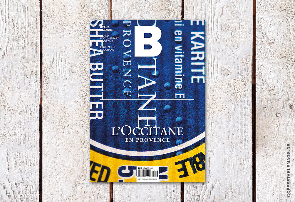 Magazine B – Issue 45: L'Occitane – Cover