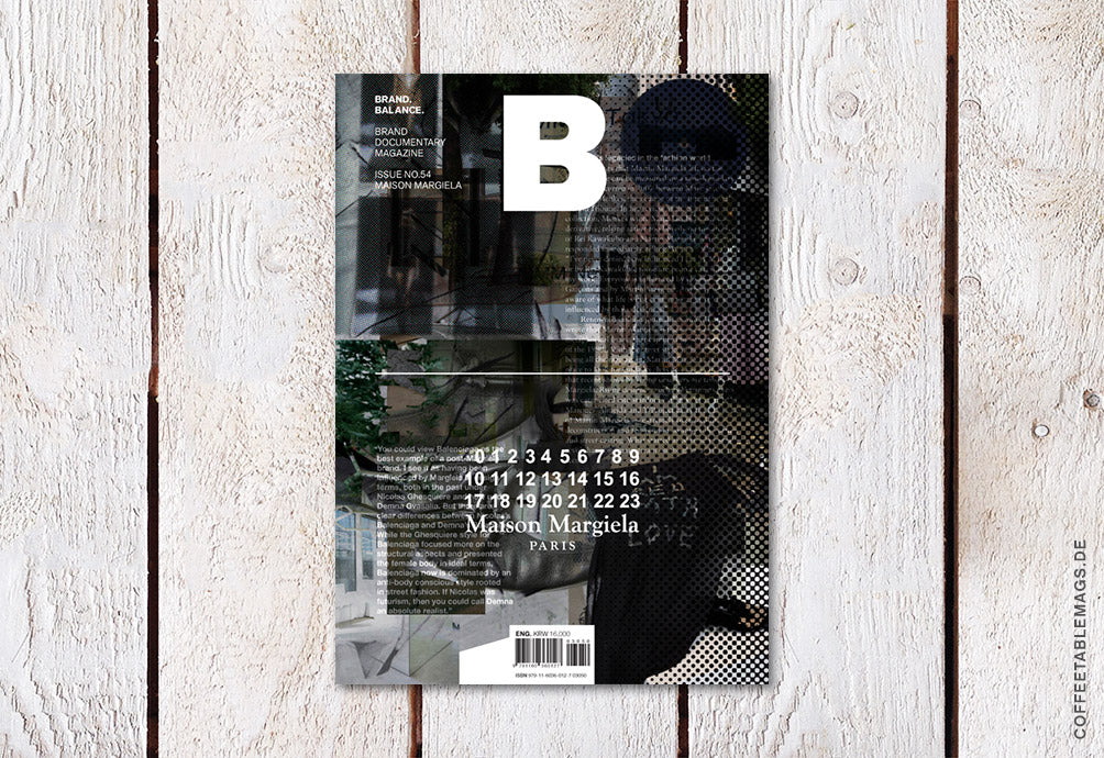 Magazine B – Issue 56: Maison Margiela – Cover