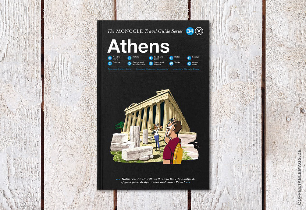 Coffee Table Mags // Independent Magazines & Books // The Monocle Travel Guide Series – Number 34: Athens – Cover