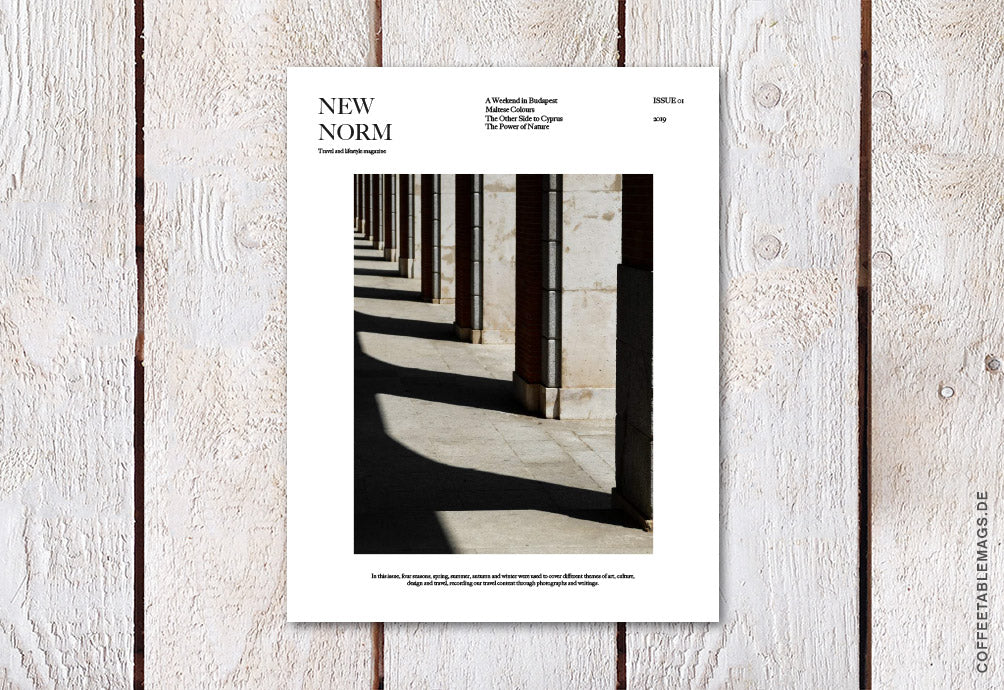 New Norm Magazine – Issue 01  – Cover