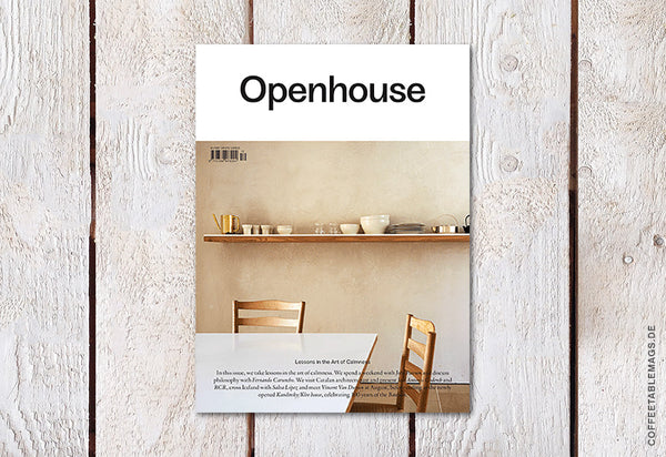 Openhouse Magazine – Issue 12: Lessons in The Art of Calmness – Cover