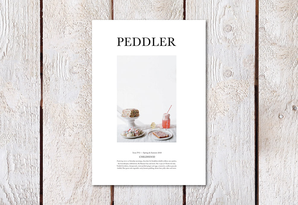 Peddler Journal – Issue 02: The Childhood Issue – Cover