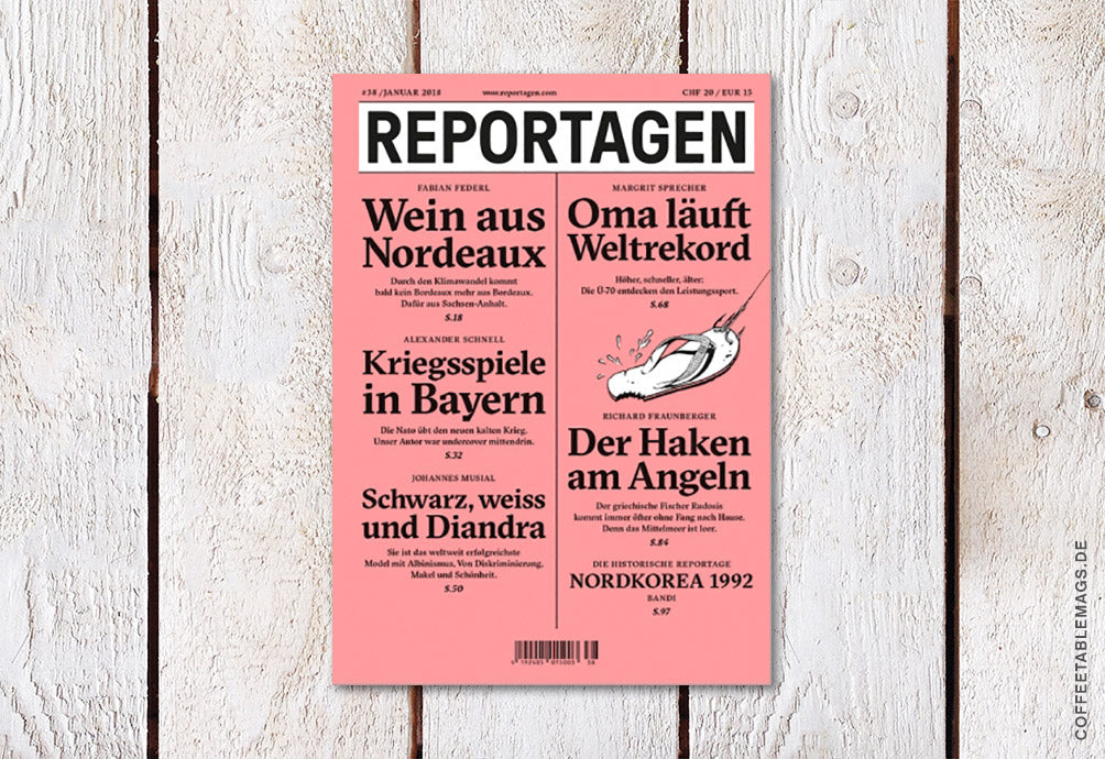 Reportagen – Number 38 (German only) – Cover