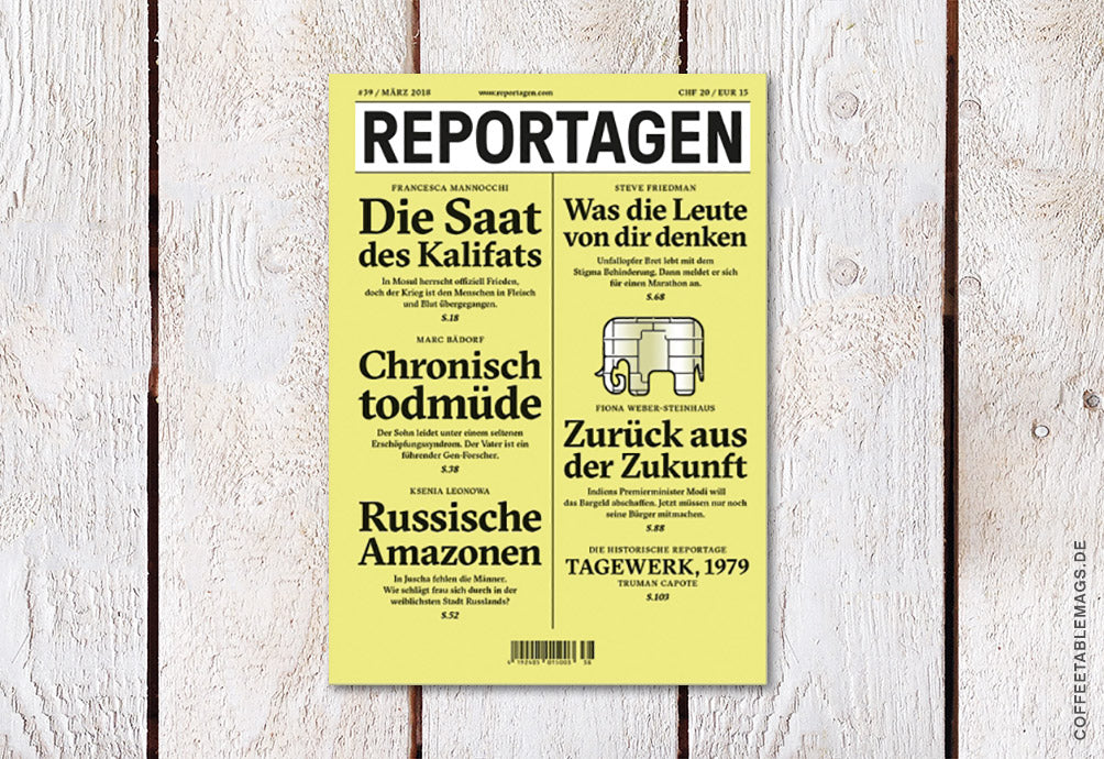 Reportagen – Number 39 – Cover