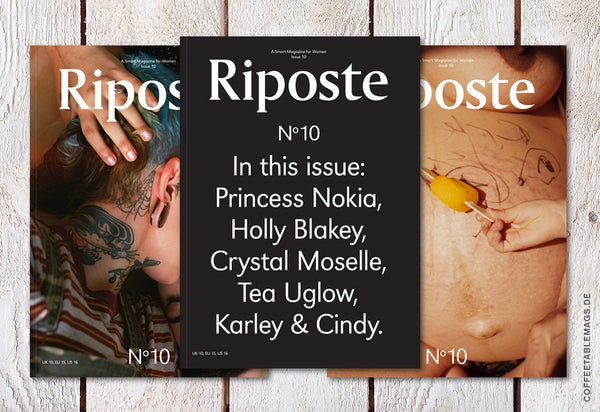 Coffee Table Mags // Independent Magazines // Riposte – Issue 10 – Cover
