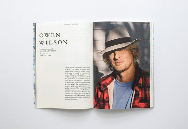 The Happy Reader – Issue 13: Owen Wilson – Inside 01