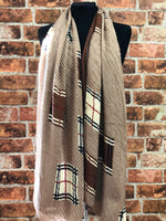 Scarf Pleated Check
