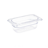 Clear Polycarbonate Food Pan 1/9 Size 65mm
