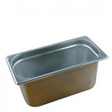 Chef Inox 18/10 Stainless Steel Gastronorm Pan - Size 1/3 - 3 Sizes & Lid available