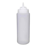 Wide Mouth Squeeze Bottle Clear