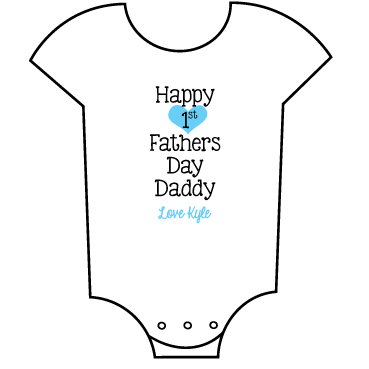 """First Father's Day"" Boy Babygrow"