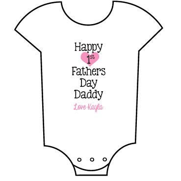 """First Father's Day"" Girl Babygrow"