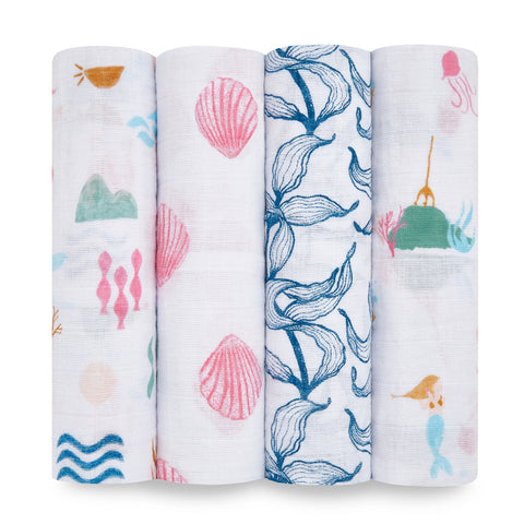 Classic Swaddles - Salty Kisses 4-pack