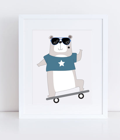{Cool Kids} Blaze the Bear - Print