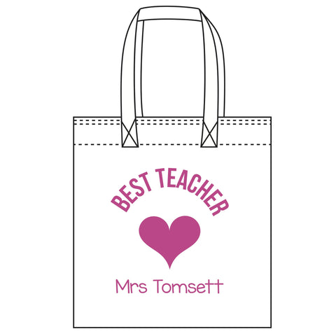 """Best Teacher"" Tote Bag"