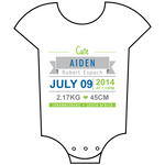 """Birth Announcement"" Boy Babygrow"