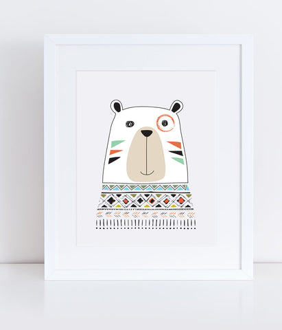 {Tribal Trio} Chi the Bear - Print