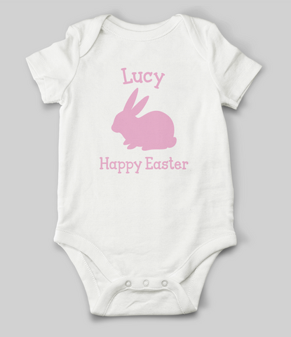 """Bunny"" Customisable Name Babygrow"