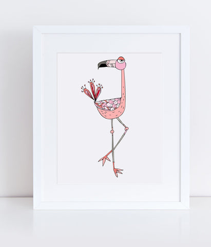 Fern the Flamingo - Print