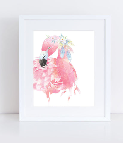 Florence the Flamingo - Print
