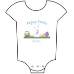 """Happy Easter"" Customisable Name Babygrow"