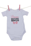 """Bows Before Bros"" Babygrow"