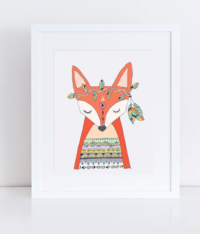{Tribal Trio} Kika the Fox - Print