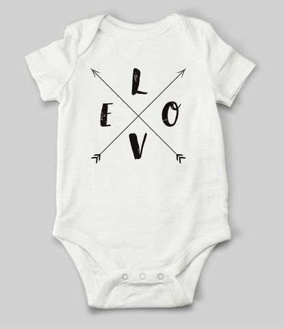 """LOVE Arrows"" Babygrow"