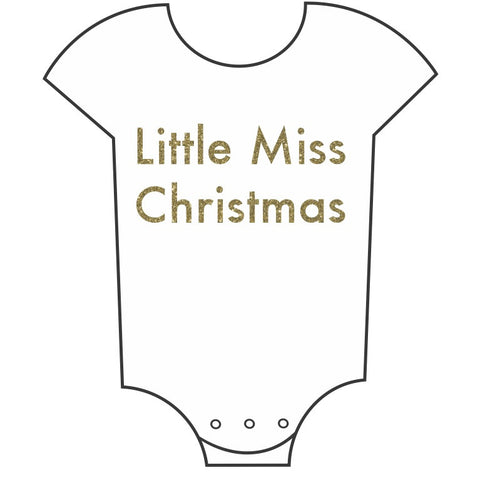 """Little Miss Christmas"" Babygrow"