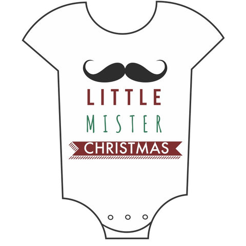 """Little Mr. Christmas"" Babygrow"